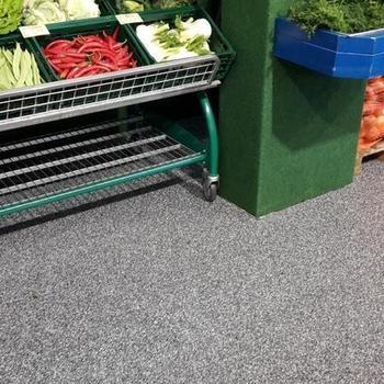 Bilder des Mini-Mix-Marktes mit neuem Bodenbelag von Gerflor