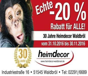 Ein Werbebanner - 20% für alle