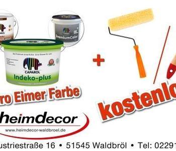 Ein Webbanner für Wandfarben