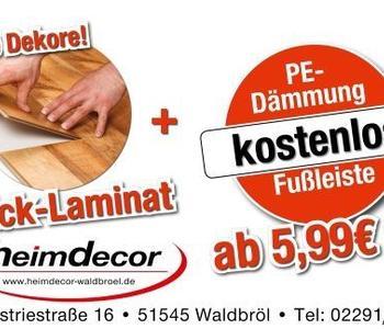 Ein Werbebanner für Click-Laminat